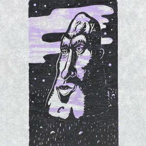 Watcher Linocut Artist Proof